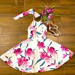 January 7 Halter Sleeveless Floral Print Dress (S)